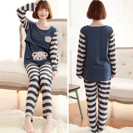 Chaud!! Allaitement Vêtements Vêtements de maternité pour les femmes enceintes Pyjamas Définit Top Pantalon Asian Marine / Tag Taille L-XL RB0025 Kevinstyle