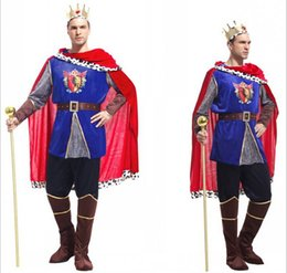 Wholesale New Halloween Costume Christmas Adult Men costumes carnival king prince cosplay costumes role playing halloween costumes for male HC65
