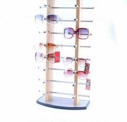 Wholesale 8 Layers Metal Sunglasses Display Shelf Aluminium Alloy Display Stand For Retail Glasses Shop