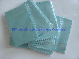 200pcs 10 * 7cm Argent Tissu polonaise pour l'argent or Bijoux Cleaner l'option Bleu Rose Vert couleurs de meilleure qualité