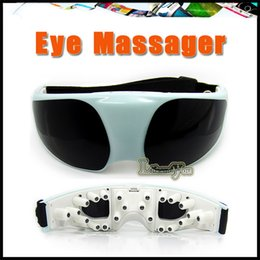 Wholesale Eye Massager WBJ Delicate Fashion Healthy Mask Use USB Migraine DC Electric and Battery Care Eye Massager with USB Cable Newest