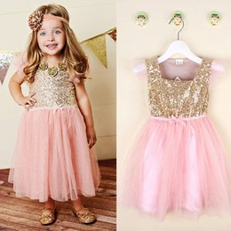 Flower Girl Princess Sequins Dress Toddler Baby Wedding Fancy Party Tutu Dresses from toddler fancy dresses suppliers