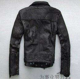 Discount Mens Leather Jacket Lapels Oblique Zipper | 2016 Mens