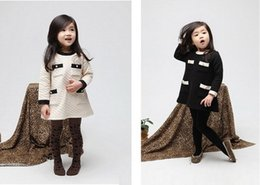 Wholesale Vogue Fall and Winter Clothes Korean Air Cotton Winter Baby Girls Clothes Childrens Long sleeved Dress Son Kids