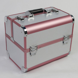 Wholesale Large professional cosmetics cosmetic bag box storage make up tools multi layer double door suitcase