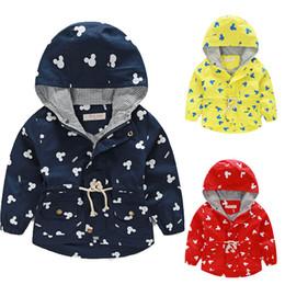 Wholesale Mickey head kids Hoodie coat autumn new korean long sleeve boys girls hooded jacket outwear minnie mouse children clothing HX