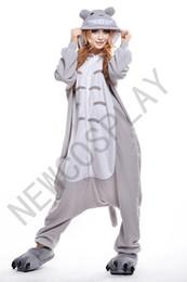 Wholesale 2016 Cosplay Totoro Kigurumi Pajama No Shoes Pajamas Hooded Conjoined Sleepwear Costumes Adult Unisex Onesie Soft Sleepwear CC34