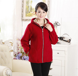 Large Hooded Fleece Jackets Women Online | Large Hooded Fleece ...