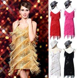 Wholesale Grace Karin Sexy Women Evening Cocktail Party Club Ballroom Lace Dance Sequins Tassel Dress CL7264