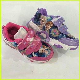 Wholesale Frozen Shoes Elsa Anna Princess Shoes Kids Classical Sports Shoes Children Casual Shoes GZ GD44