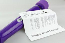 Wholesale NEWEST massage stick Magic Wand Massager electric massage stick Massager With Retail Package