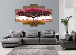 2017 big frames for pictures high quality modern printed on canvas big tree painting for