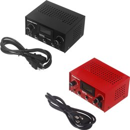 Wholesale NEW Arrival Tattoo Power Supply for Tattoo Machine Gun with Plug Cast Iron Material digital tattoo machine power supply order lt no track