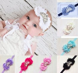 2016 Baby Tiaras Rhinestone Baby Crown headband Shabby Flower Tiara Rhinestone Baby Headband 10 Colors Available
