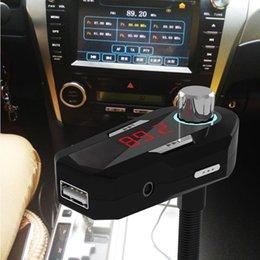 Акций США! FM25 New Car FM-передатчик 3,5 Car Audio Bluetooth 4.0 беспроводной громкой USB зарядное устройство для телефонов MP3