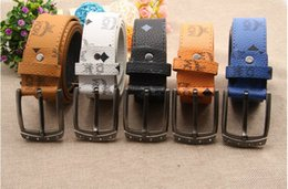 Wholesale 2015 NEW MCM Belt High quality brand designer Men Women Metal Buckle Cool Belts dress belts Metal strap Buckle