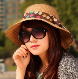 Wholesale Fashion summer new dot bow hat Dayan Mao beach hat female retail and
