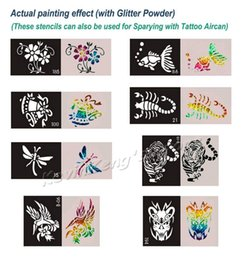 Wholesale 200pcs Big Size x15cm Tattoo Stencils for Body art Painting Temporary Glitter Tattoo Kit Mixed designs DHL