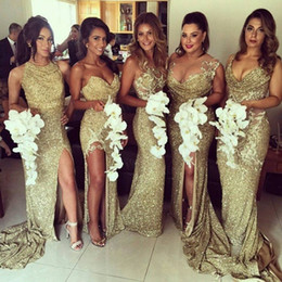 Discount Lace Champagne Colored Bridesmaids Dresses  2017 Lace ...