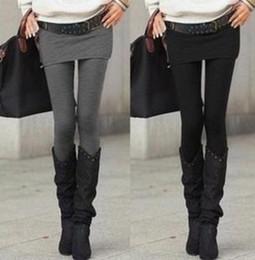 Wholesale Pantalones cortos de falda falsos de dos piezas legging calientes de la manera de las mujeres de Pantskirt Legging de las mujeres con mini faldas ajuste delgado