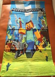30pcs Traducido Tamaño: 140 * 72 Minecraft toalla de los niños toalla de baño toallas de playa de algodón puro de los colores de hielo de dibujos animados toalla