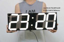 Discount Led Large Display Digital Wall Clock 2017 Led Large