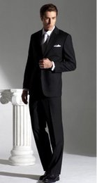 Wholesale 2014 Business mens formal suit black Groom Tuxedos made in china custom made size