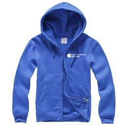 Wholesale 2015 new fashion apple overalls sweater cardigan zipper fleece custom tooling men and women clothes stores cotton men hoodies
