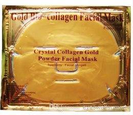 Wholesale Hot Enviromental Gold Bio Collagen Facial Mask Face Mask Crystal Gold Powder Collagen Facial Mask Moisturizing Anti aging