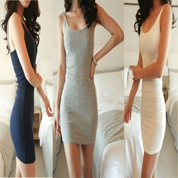Wholesale Women Lady Sexy Tight Sleeveless Package Hip Sling Dress Clothes