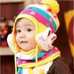 Wholesale Korean boys and girls winter hat baby hat baby hat scarf ear piece in autumn and winter wool cap