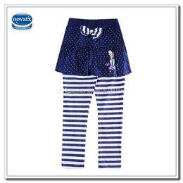 Wholesale Kids Frozen Clothes Baby Girl Frozen Leggings Polka Dot Skirt Stripes Leggings Children Pencil Pants with Bow Embroidered HG5688