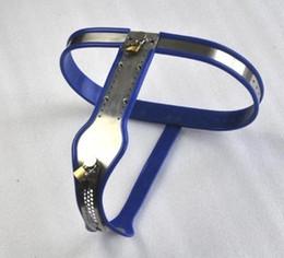 Wholesale 4 cores Feminino de aço inoxidável ajustável Cinto de castidade com removível tampa de bloqueio para as mulheres
