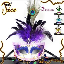 Wholesale 2014 Feather Party Masks Fashion Halloween Masquerade Mask Christmas Gift High Quality