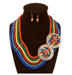 Wholesale New Arrival Sets Crystals Neckline and Drop Earrings South Africa Wedding Jewelry Nigeria Bridal Accessories