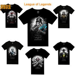 Wholesale League of Legends style LOL ez D Printed men s short sleeve T shirt cartoon cotton clothing
