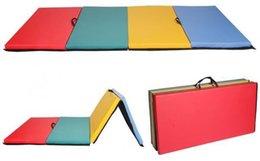 online shopping New x8 x2 quot Folding Panel Gymnastics Mat Gym Exercise Yoga Mat Pad R4CM