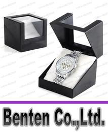 Бесплатная доставка черные часы коробка часы коробка окна прозрачная пластиковая коробка часы коробка умные дети смотрят бокс LLFA55