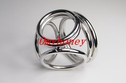 Wholesale new stainless steel anal and ball toys cock rings dildo rings bondage chastity devices sex toys for men M022