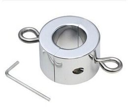 Wholesale Metal Male Cock Ball Stretcher Ring BDSM Bondage Cockrings Gear Adult Sex Toys Products