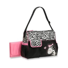 Wholesale Popular Animal Diaper Bag Mummy Bag Nappy Bag Zebra Or Giraffe Babyboom Multifunctional Fashion Infanticipate Bag Mother Baby bag