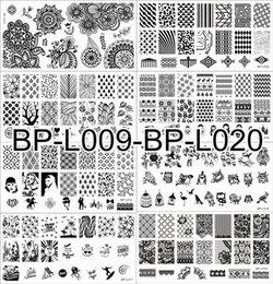 Wholesale 12Pcs BORN PRETTY Original BP L009 L020 Nail Art Stamping Plate Nail Template Image Plates Kit x cm