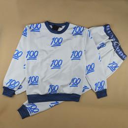 Wholesale Hot new men women sport2014 new men women s sport jogging suits emoji fashion tracksuits sweatshirt pants clothing set joggers