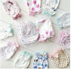 Wholesale 50 Min order baby mitten gloves against scratch all cotton gloves mitten small newborn mitten