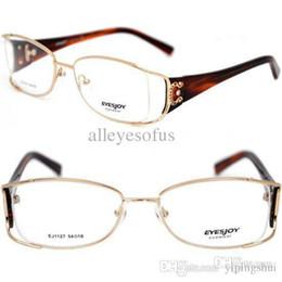 latest eyeglass frames tiwz  Original Eyeglass free shipping eyesjoy 1127-02 silver gold design spectacles  frame latest branded spectacle frames eyeglass