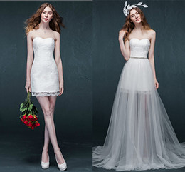 Top New Convertible Wedding Dresses Sweetheart Lace Up With Tulle Bridal Gowns Fashion Garden Vestidos De Noiva Custom Made Gown Wwl In