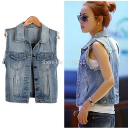 Discount Jean Jacket Vest Women | 2016 Jean Jacket Vest Women on ...