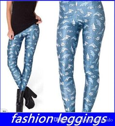 Wholesale New FcNew Women Leggings Punk Rock Casual Fashion Pants Mr Shark Printed Women Legging Fitness Clothing For Women top sale free ship