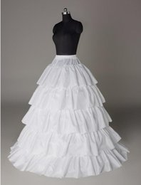 Wholesale Five Layers A Line Petticoat Dresses White Petticoat For A Line Wedding Dresses P008