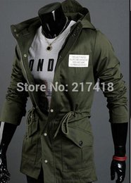 Wholesale Autumn winter men s korean style slim cultivate Fashion hooded drawstring waist casual jacket
